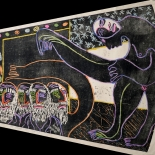 alford_temptress_1988_26x30_w, Temptress, Al Ford, 1988, Woodcuts. Gallery East, Ford, Gallery East Network