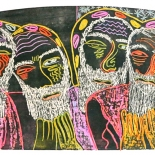 alford_thewiseman.jpg, The Wise Men, Al Ford, 1988, Woodcuts. Gallery East, Ford, Gallery East Network