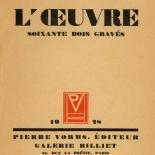 1928_masereel_loeuvre_3x3.75_00_dlw, L'oeuvre PL62, Frans Masereel, 1928, Woodcut, Masereel, Gallery East, Gallery East Network