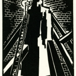 1928_masereel_loeuvre_3x3.75_02_dlw, L'oeuvre PL02, Frans Masereel, 1928, Woodcut, Masereel, Gallery East, Gallery East Network
