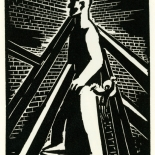 1928_masereel_loeuvre_3x3.75_03_dlw, L'oeuvre PL03, Frans Masereel, 1928, Woodcut, Masereel, Gallery East, Gallery East Network