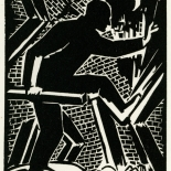 1928_masereel_loeuvre_3x3.75_04_dlw, L'oeuvre PL04, Frans Masereel, 1928, Woodcut, Masereel, Gallery East, Gallery East Network
