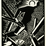 1928_masereel_loeuvre_3x3.75_05_dlw, L'oeuvre PL05, Frans Masereel, 1928, Woodcut, Masereel, Gallery East, Gallery East Network
