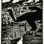 1928_masereel_loeuvre_3x3.75_06_dlw, L'oeuvre PL06, Frans Masereel, 1928, Woodcut, Masereel, Gallery East, Gallery East Network
