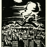 1928_masereel_loeuvre_3x3.75_07_dlw, L'oeuvre PL07, Frans Masereel, 1928, Woodcut, Masereel, Gallery East, Gallery East Network