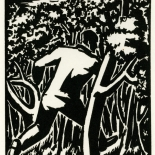 1928_masereel_loeuvre_3x3.75_08_dlw, L'oeuvre PL08, Frans Masereel, 1928, Woodcut, Masereel, Gallery East, Gallery East Network