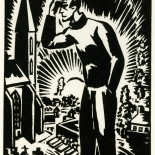 1928_masereel_loeuvre_3x3.75_12_dlw, L'oeuvre PL12, Frans Masereel, 1928, Woodcut, Masereel, Gallery East, Gallery East Network