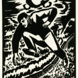 1928_masereel_loeuvre_3x3.75_14_dlw, L'oeuvre PL14, Frans Masereel, 1928, Woodcut, Masereel, Gallery East, Gallery East Network