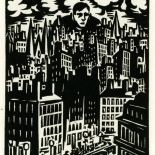 1928_masereel_loeuvre_3x3.75_15_dlw, L'oeuvre PL15, Frans Masereel, 1928, Woodcut, Masereel, Gallery East, Gallery East Network