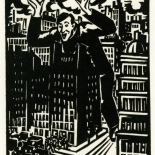 1928_masereel_loeuvre_3x3.75_16_dlw, L'oeuvre PL16, Frans Masereel, 1928, Woodcut, Masereel, Gallery East, Gallery East Network