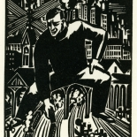 1928_masereel_loeuvre_3x3.75_17_dlw, L'oeuvre PL17, Frans Masereel, 1928, Woodcut, Masereel, Gallery East, Gallery East Network