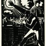 1928_masereel_loeuvre_3x3.75_18_dlw, L'oeuvre PL18, Frans Masereel, 1928, Woodcut, Masereel, Gallery East, Gallery East Network