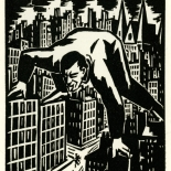 1928_masereel_loeuvre_3x3.75_19_dlw, L'oeuvre PL19, Frans Masereel, 1928, Woodcut, Masereel, Gallery East, Gallery East Network