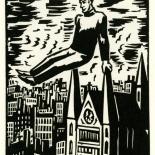 1928_masereel_loeuvre_3x3.75_21_dlw, L'oeuvre PL21, Frans Masereel, 1928, Woodcut, Masereel, Gallery East, Gallery East Network