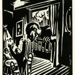 1928_masereel_loeuvre_3x3.75_23_dlw, L'oeuvre PL23, Frans Masereel, 1928, Woodcut, Masereel, Gallery East, Gallery East Network