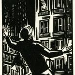 1928_masereel_loeuvre_3x3.75_24_dlw, L'oeuvre PL24, Frans Masereel, 1928, Woodcut, Masereel, Gallery East, Gallery East Network