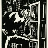 1928_masereel_loeuvre_3x3.75_25_dlw, L'oeuvre PL25, Frans Masereel, 1928, Woodcut, Masereel, Gallery East, Gallery East Network