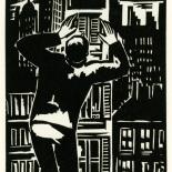 1928_masereel_loeuvre_3x3.75_27_dlw, L'oeuvre PL27, Frans Masereel, 1928, Woodcut, Masereel, Gallery East, Gallery East Network
