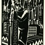 1928_masereel_loeuvre_3x3.75_29_dlw, L'oeuvre PL29, Frans Masereel, 1928, Woodcut, Masereel, Gallery East, Gallery East Network