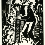 1928_masereel_loeuvre_3x3.75_30_dlw, L'oeuvre PL30, Frans Masereel, 1928, Woodcut, Masereel, Gallery East, Gallery East Network