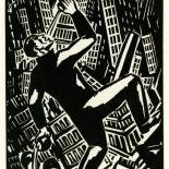1928_masereel_loeuvre_3x3.75_31_dlw, L'oeuvre PL31, Frans Masereel, 1928, Woodcut, Masereel, Gallery East, Gallery East Network