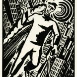 1928_masereel_loeuvre_3x3.75_32_dlw, L'oeuvre PL32, Frans Masereel, 1928, Woodcut, Masereel, Gallery East, Gallery East Network