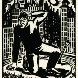 1928_masereel_loeuvre_3x3.75_34_dlw, L'oeuvre PL34, Frans Masereel, 1928, Woodcut, Masereel, Gallery East, Gallery East Network
