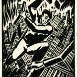 1928_masereel_loeuvre_3x3.75_36_dlw, L'oeuvre PL36, Frans Masereel, 1928, Woodcut, Masereel, Gallery East, Gallery East Network