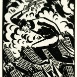 1928_masereel_loeuvre_3x3.75_37_dlw, L'oeuvre PL37, Frans Masereel, 1928, Woodcut, Masereel, Gallery East, Gallery East Network