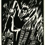 1928_masereel_loeuvre_3x3.75_38_dlw, L'oeuvre PL38, Frans Masereel, 1928, Woodcut, Masereel, Gallery East, Gallery East Network