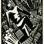 1928_masereel_loeuvre_3x3.75_39_dlw, L'oeuvre PL39, Frans Masereel, 1928, Woodcut, Masereel, Gallery East, Gallery East Network