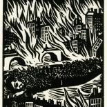 1928_masereel_loeuvre_3x3.75_40_dlw, L'oeuvre PL40, Frans Masereel, 1928, Woodcut, Masereel, Gallery East, Gallery East Network