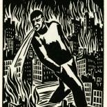 1928_masereel_loeuvre_3x3.75_41_dlw, L'oeuvre PL41, Frans Masereel, 1928, Woodcut, Masereel, Gallery East, Gallery East Network