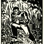 1928_masereel_loeuvre_3x3.75_42_dlw, L'oeuvre PL42, Frans Masereel, 1928, Woodcut, Masereel, Gallery East, Gallery East Network