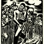 1928_masereel_loeuvre_3x3.75_43_dlw, L'oeuvre PL43 Frans Masereel, 1928, Woodcut, Masereel, Gallery East, Gallery East Network