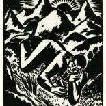 1928_masereel_loeuvre_3x3.75_46_dlw, L'oeuvre PL46, Frans Masereel, 1928, Woodcut, Masereel, Gallery East, Gallery East Network