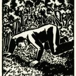 1928_masereel_loeuvre_3x3.75_47_dlw, L'oeuvre PL47, Frans Masereel, 1928, Woodcut, Masereel, Gallery East, Gallery East Network