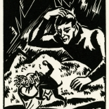1928_masereel_loeuvre_3x3.75_54_dlw, L'oeuvre PL54, Frans Masereel, 1928, Woodcut, Masereel, Gallery East, Gallery East Network