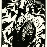 1928_masereel_loeuvre_3x3.75_55_dlw, L'oeuvre PL55, Frans Masereel, 1928, Woodcut, Masereel, Gallery East, Gallery East Network