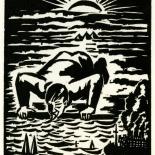 1928_masereel_loeuvre_3x3.75_56_dlw, L'oeuvre PL56, Frans Masereel, 1928, Woodcut, Masereel, Gallery East, Gallery East Network
