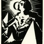 1928_masereel_loeuvre_3x3.75_57_dlw, L'oeuvre PL57, Frans Masereel, 1928, Woodcut, Masereel, Gallery East, Gallery East Network
