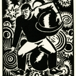 1928_masereel_loeuvre_3x3.75_59_dlw, L'oeuvre PL59, Frans Masereel, 1928, Woodcut, Masereel, Gallery East, Gallery East Network