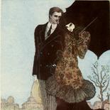 1929_majeska_painted_veils_pl05_4.5x6_dlw, Painted Veils PL05, Madame Majeska, Majeska, 1929, Knudson Print, Gallery East, Gallery East Network
