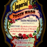 1900c_label_imperial_toothwash_2.25x3_dlw, Imperial Toothwash, 1900c, Lithograph, Advertising Label, Gallery East, Gallery East Network