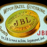 1900c_label_jbl_glycerine_soap_2x3_dlw, JBL Glycerine Soap, 1900c, Lithograph, Advertising Label, Gallery East, Gallery East Network