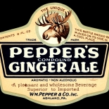 1910c_label_peppers_gingerale_3.5x4.25_dlw, Peppers Gingerale, 1910c, Lithograph, Advertising Label, Gallery East, Gallery East Network