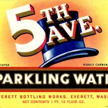 1930c_label_5th_ave_sparkling_water_3.25x4.5_dlw, 5th Ave Sparkling Water, 1930c, Lithograph, Advertising Label, Gallery East, Gallery East Network