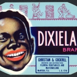 1930c_label_dixieland_4.5x7.25_dlw, Dixieland Brand, 1930c, Lithograph, Advertising Label, Gallery East, Gallery East Network