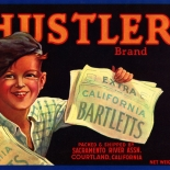 1930c_label_hustler_bartletts_7.75x11_dlw, Hustler Bartletts, 1930c, Lithograph, Advertising Label, Gallery East, Gallery East Network