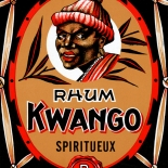 1930c_label_kwango_rhum_3.75x5.5_dlw, Kwango Rhum, 1930c, Lithograph, Advertising Label, Gallery East, Gallery East Network